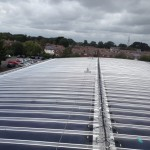 picture of thin film on the roof of a school in hampshire